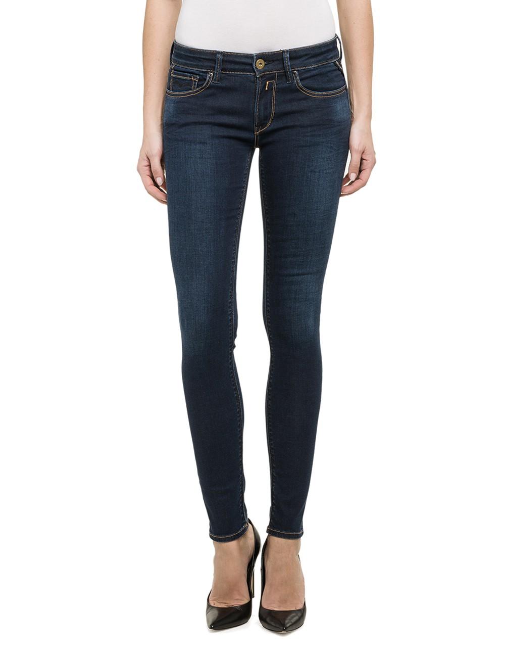replay damen jeans luz skinny fit blue denim kaufen. Black Bedroom Furniture Sets. Home Design Ideas