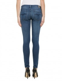 Replay Damen Jeans Luz - Skinny Fit - Mid Blue