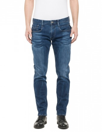 Replay Herren Jeans Anbass - Slim Fit - Mid Blue