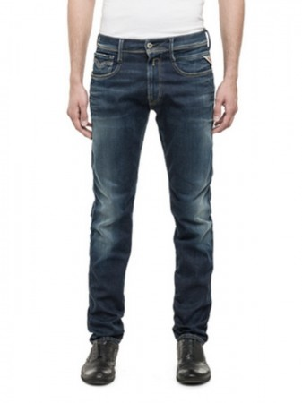 Replay Herren Hyperflex Jeans Anbass - Slim Fit - Deep Blue
