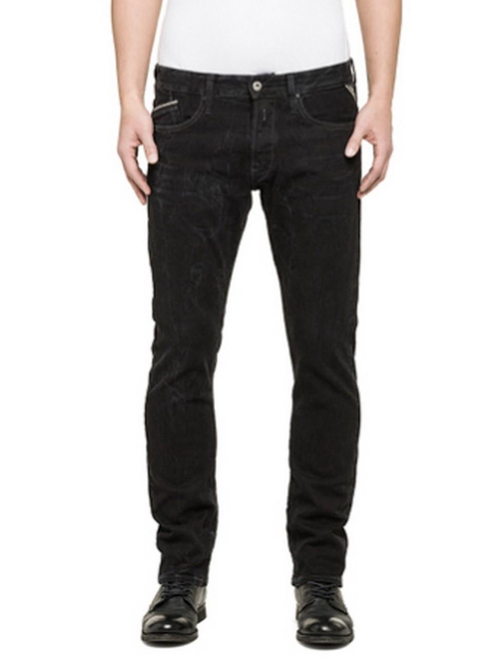 replay herren jeans waitom regular fit black kaufen jeans direct de. Black Bedroom Furniture Sets. Home Design Ideas