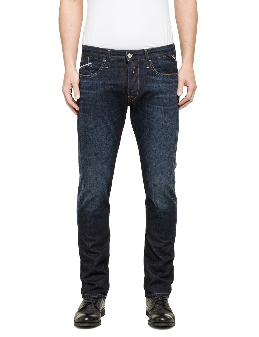 replay herren jeans waitom m983 606 602 regular fit slim. Black Bedroom Furniture Sets. Home Design Ideas