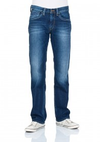 Pepe Jeans Herren Jeans Kingston Zip - Regular Fit - Rope Dye Glory Dk