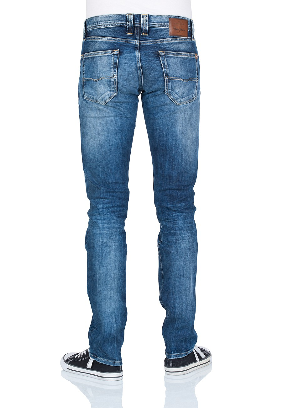 Pepe Jeans Herren Jeans Cane - Slim Fit - Streaky Stretch Med