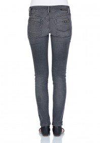 Bild 2 - Cross Damen Jeans Adriana - Super Skinny Fit - Grey Used
