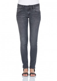 Bild 1 - Cross Damen Jeans Adriana - Super Skinny Fit - Grey Used