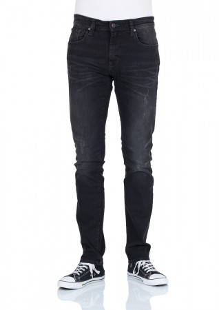 Mavi Herren Jeans James - Skinny Fit - Smoke Berlin Comfort