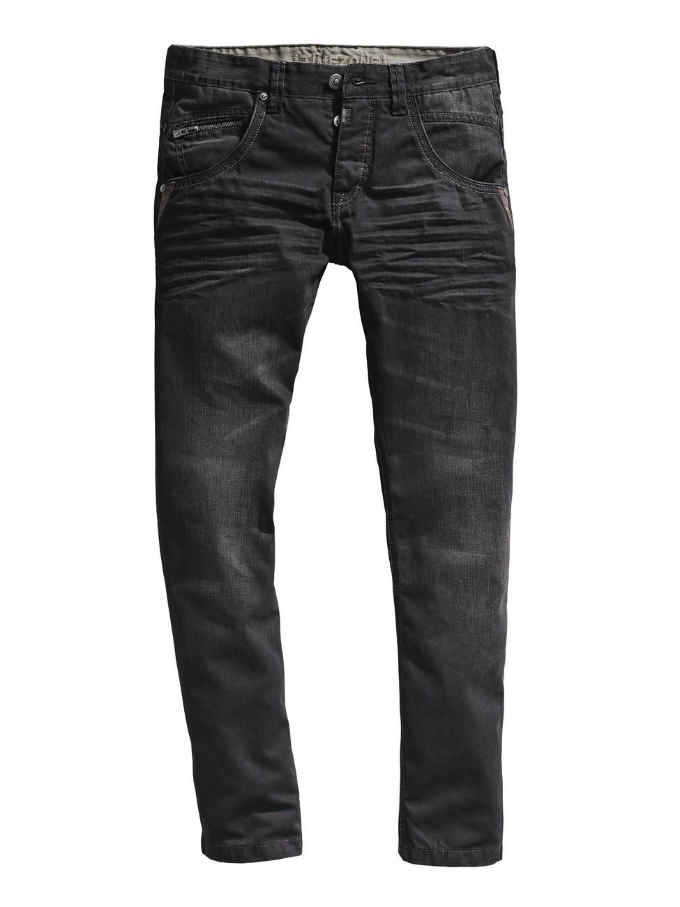 timezone herren jeans haroldtz rough regular fit black. Black Bedroom Furniture Sets. Home Design Ideas