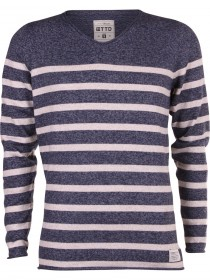 Bild 1 - Tom Tailor Herren Pullover Stripy - Mouline Deep
