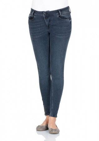 Cross 7/8 Damen Jeans Giselle - Skinny Fit - Ash Blue Used