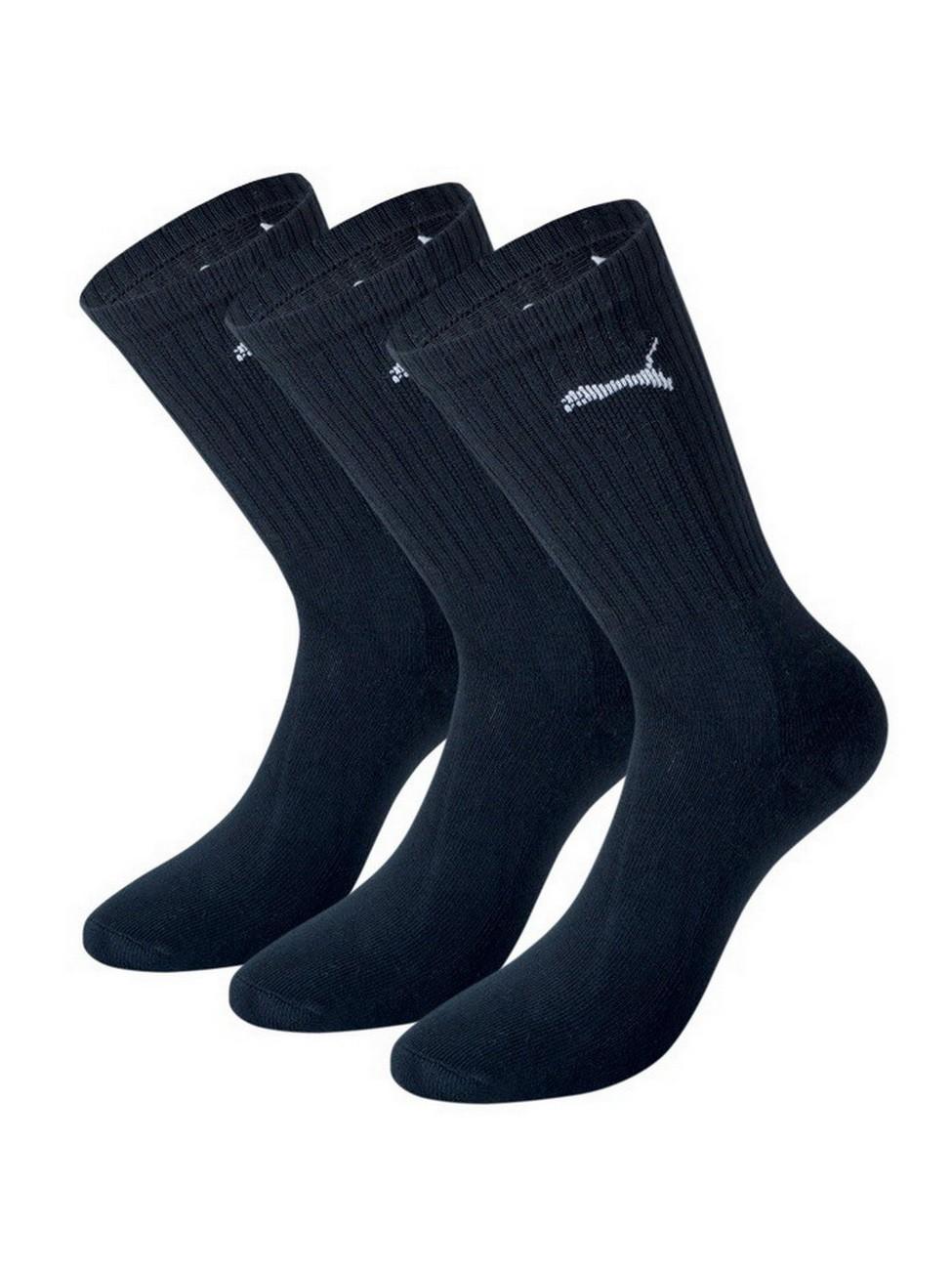 Puma Basic Socken Unisex Crew Socken - 3er Pack black (200), 39-42