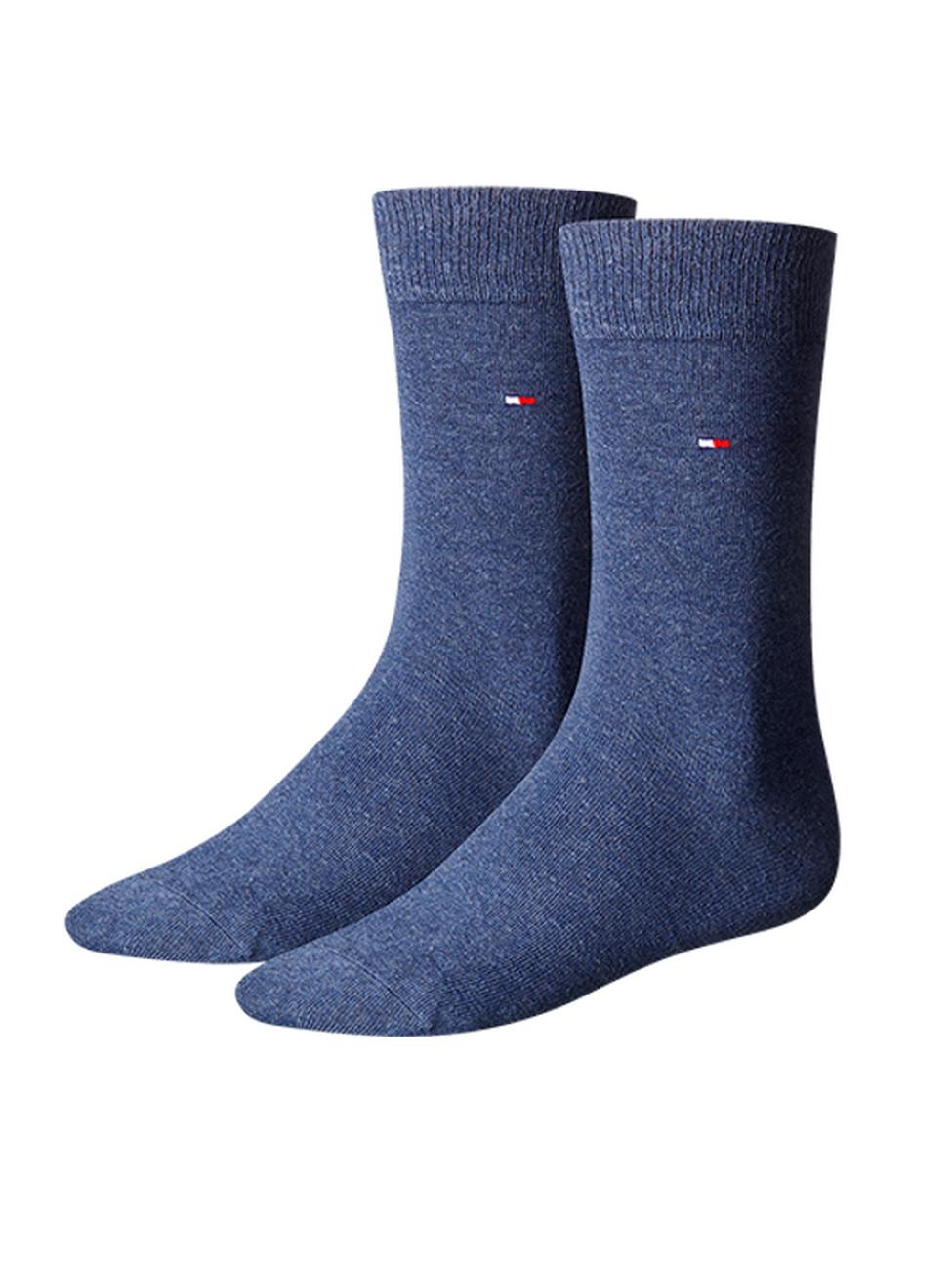 Tommy Hilfiger Herrensocken Classic Business Socken - 2er Pack 47-49, jeans (356)