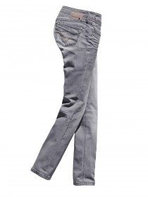 Timezone Damen Jeans TamikaTZ - Slim Fit - Light Grey Destroy