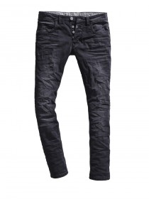 Timezone Herren Jeans EdoTZ - Slim Fit - Brush Black Wash
