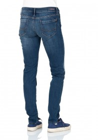 Bild 2 - Cross Damen Jeans Adriana - Super Skinny Fit - Mid Blue