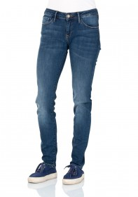 Bild 1 - Cross Damen Jeans Adriana - Super Skinny Fit - Mid Blue