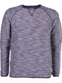 Tom Tailor Denim Herren Sweater Slub - Open Edge Crewneck