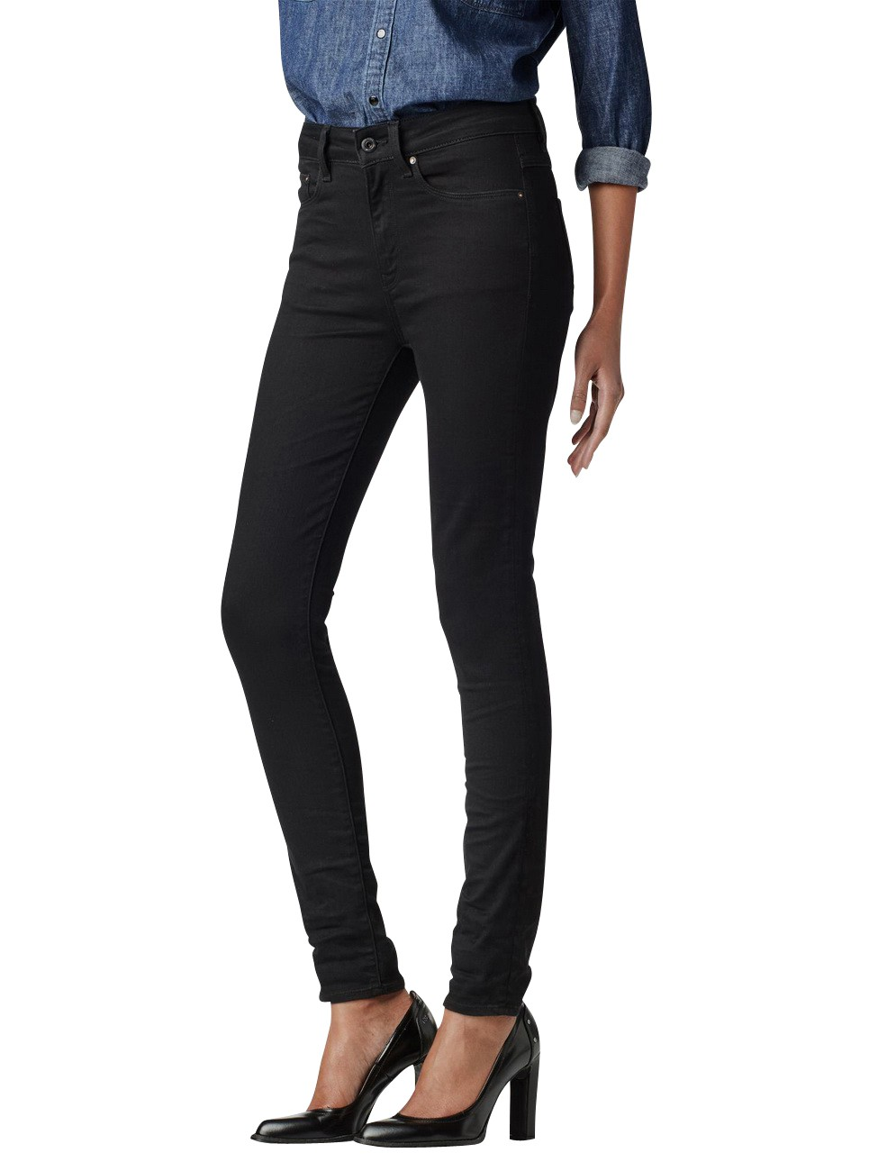 g star damen jeans ruby ultra high skinny dark aged ebay. Black Bedroom Furniture Sets. Home Design Ideas