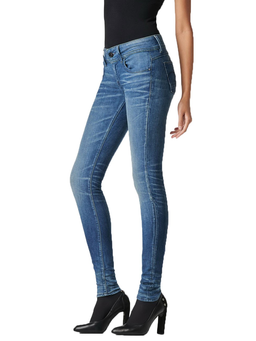 g star damen jeans lynn mid skinny medium aged kaufen. Black Bedroom Furniture Sets. Home Design Ideas