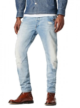 G-Star Herren Jeans Arc 3D - Superstretch Slim Fit - It Aged Destroyed