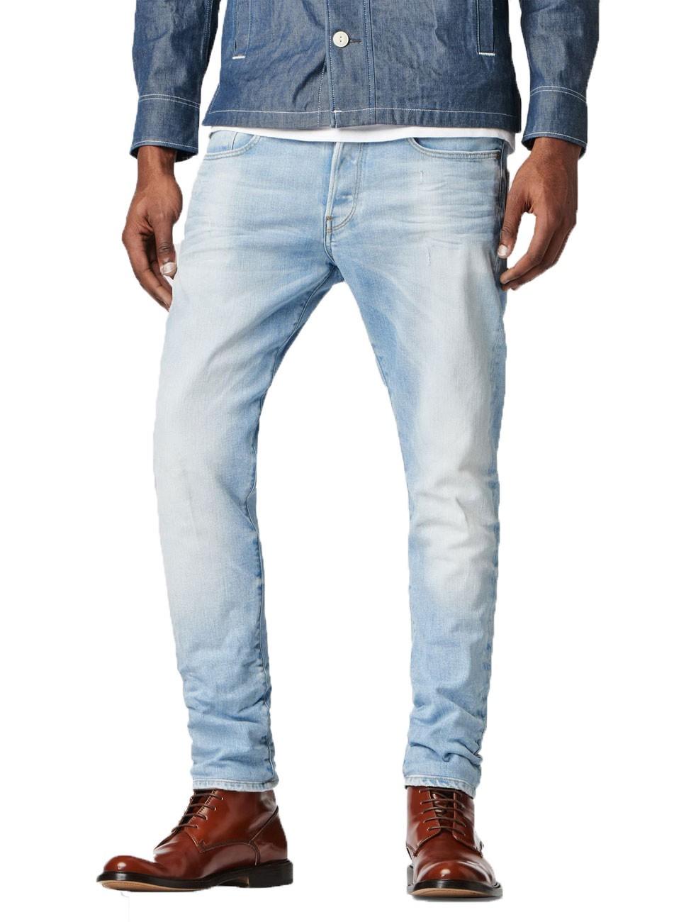 g star herren jeans 3301 tapered fit it aged ebay. Black Bedroom Furniture Sets. Home Design Ideas