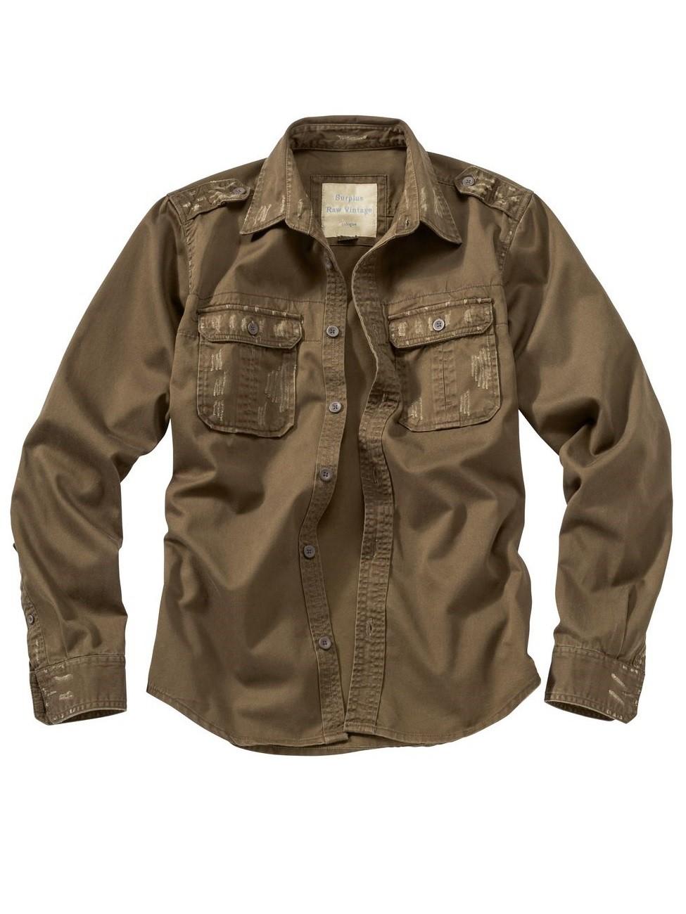 surplus herren hemd raw vintage shirt langarm jeans direct de. Black Bedroom Furniture Sets. Home Design Ideas