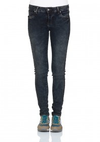 LTB Damen Jeans Dora - Skinny Fit  - Blau - Dirty Rebel UnDestroyed