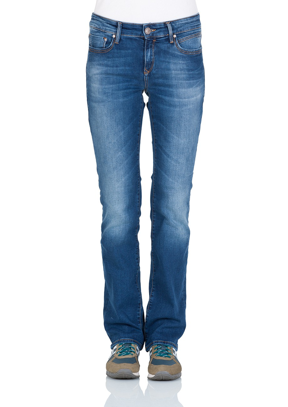 Mavi Damen Jeans Mona - Straight Fit - Blau - Dark Paris Str