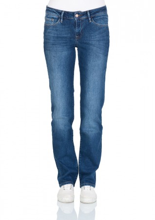 Cross Damen Jeans Rose - Regular Fit - Blau - Blue Used Crincle