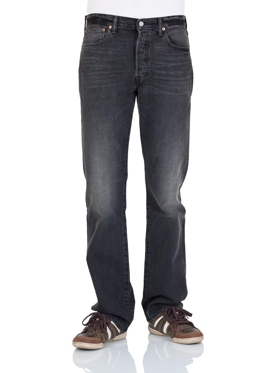 levi 39 s herren jeans 501 original fit schwarz black range ebay. Black Bedroom Furniture Sets. Home Design Ideas