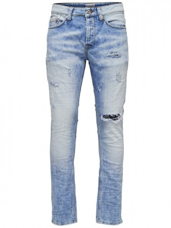 Only & Sons Herren Jeans onsWEFT - Regular Fit - Blau - Light Blue Denim