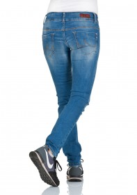 Bild 2 - LTB Damen Jeans Molly Slim Fit - Blau - Calissa Wash