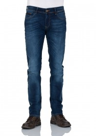 Bild 1 - Cross Herren Jeans Johnny Slim Fit - Blau - Ocean Blue Used