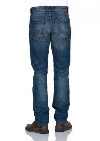 Tom Tailor Herren Jeans Marvin Straight Fit Blau Mid