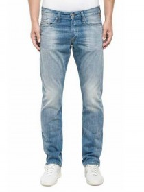 Replay Herren Jeans Waitom Regular Fit - Slim Leg - Blau - Deep Blue
