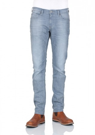 Tom Tailor Denim Herren Jeans Piers Super Slim Fit - Grau - Stone Grey Denim