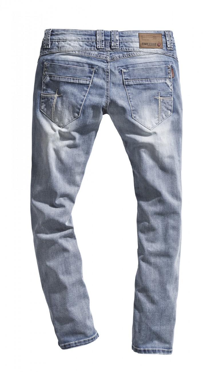 Timezone Herren Jeans TaylorTZ - Slim Fit - Blau - Cool Bleach Wash