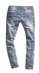 Bild 2 - Timezone Herren Jeans TaylorTZ - Slim Fit - Blau - Cool Bleach Wash