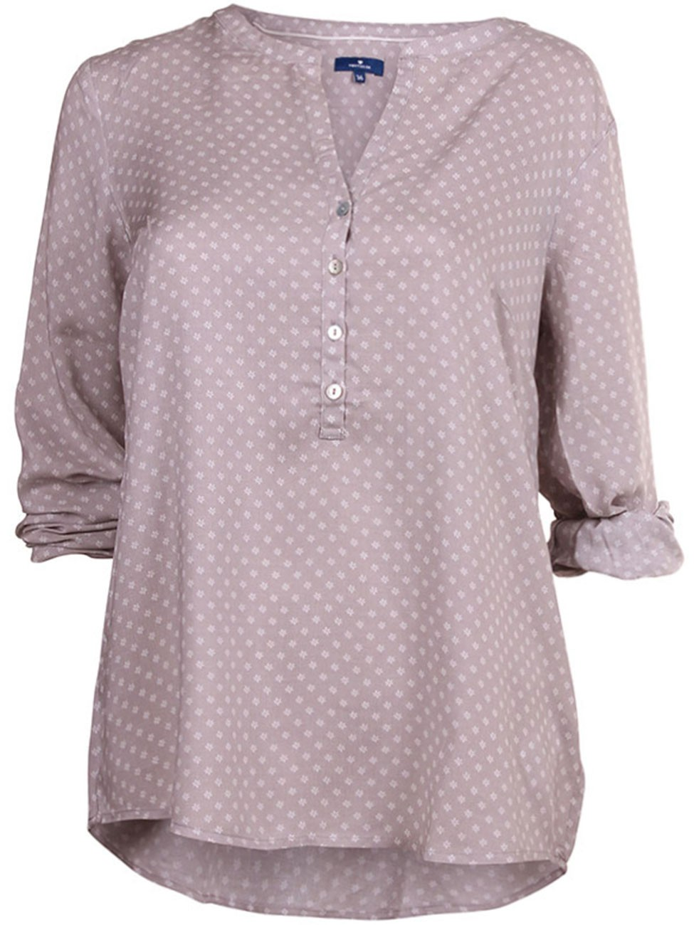 tom tailor damen bluse trendy print blouse ebay. Black Bedroom Furniture Sets. Home Design Ideas