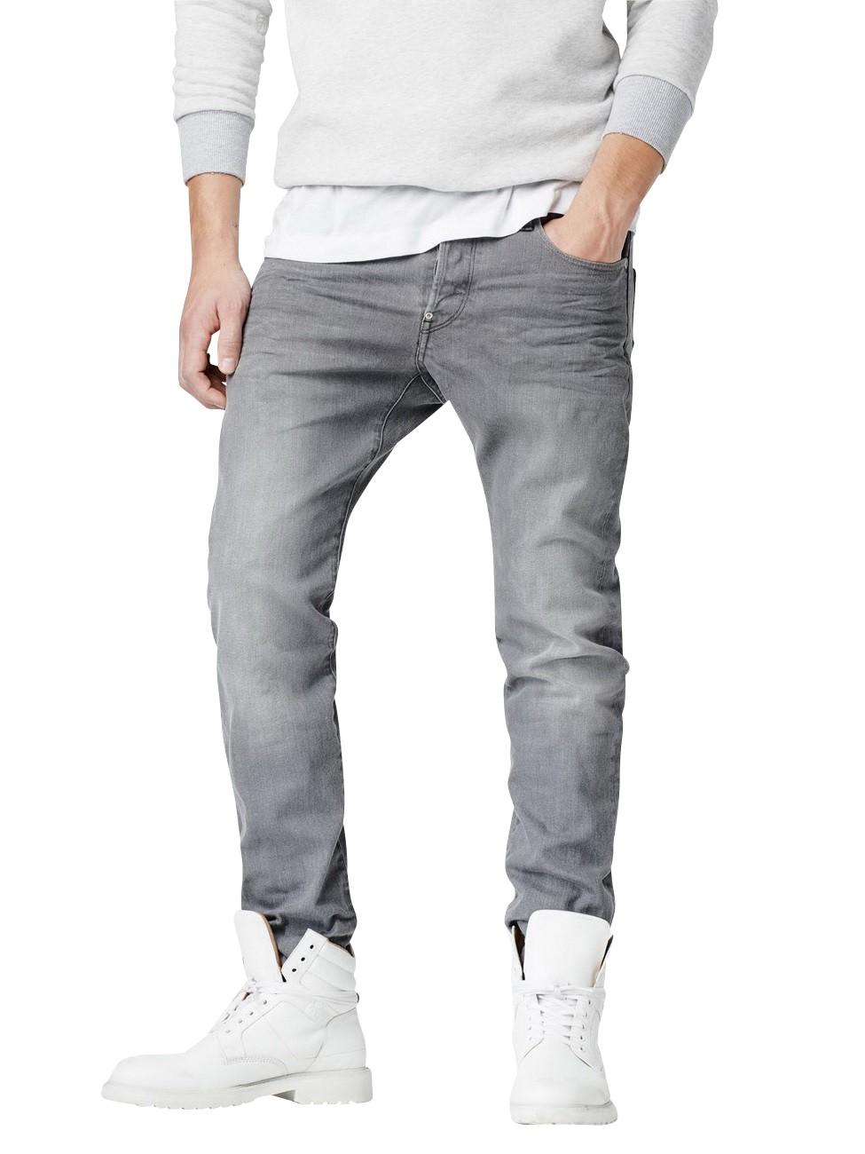 g star herren jeans revend straight fit grau accel. Black Bedroom Furniture Sets. Home Design Ideas
