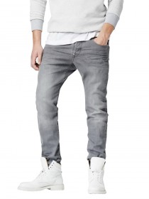 G-Star Herren Jeans Revend Straight Fit - Grau - Accel Grey