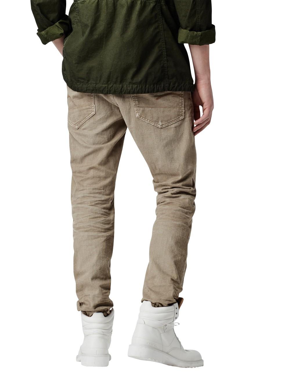 g star herren jeans 3301 tapered fit beige ebay. Black Bedroom Furniture Sets. Home Design Ideas