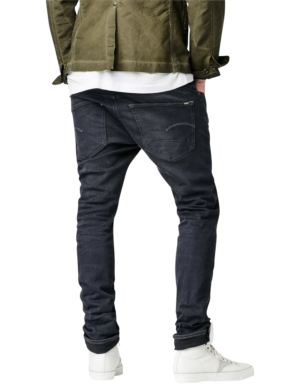 G-Star Herren Jeans 3301 - Slim Fit - Grau - Dark Aged