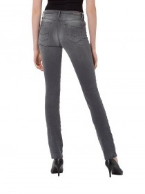 Cross Damen Jeans Anya - Slim Fit - Grau - Grey