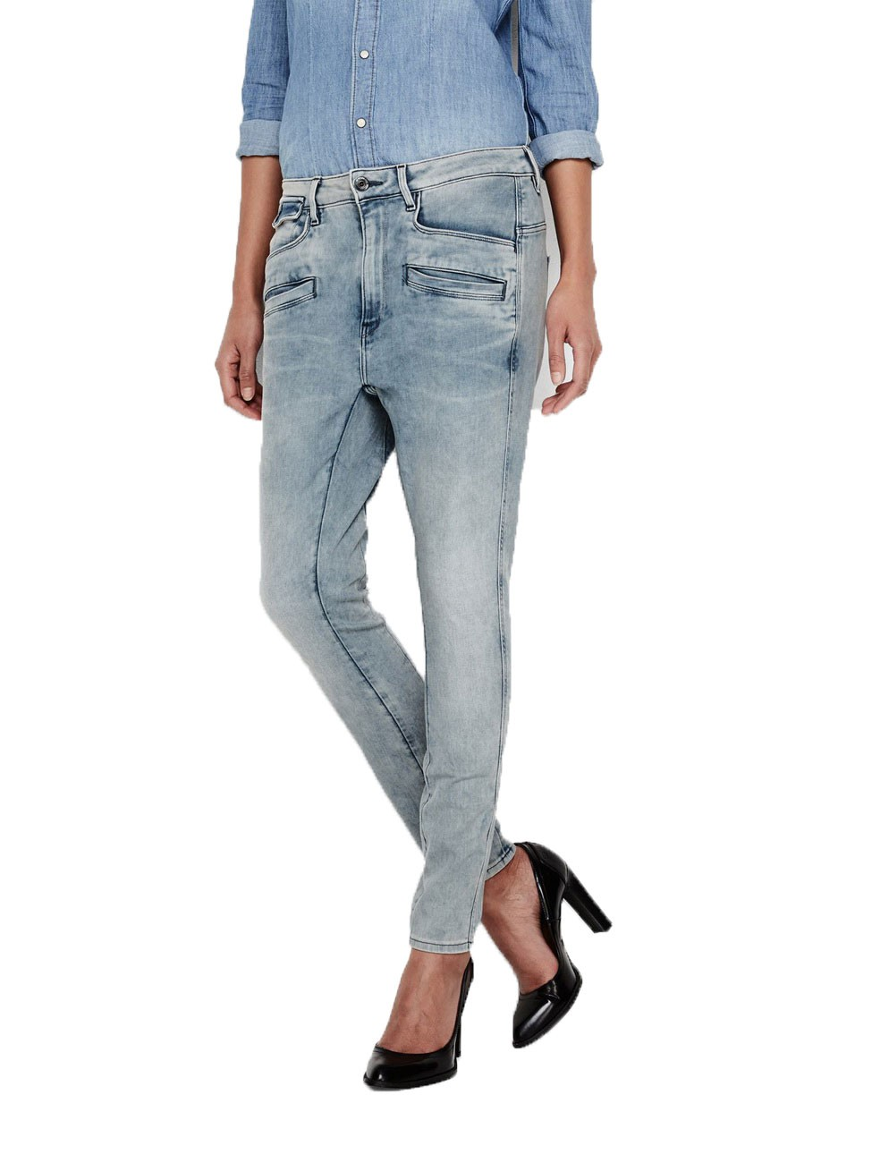 g star damen jeans dadin 3d low boyfriend blau light aged. Black Bedroom Furniture Sets. Home Design Ideas