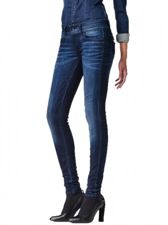 G-Star Damen Jeans Midge Cody Mid Waist Skinny Fit - Blau - Medium Aged