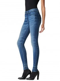 Bild 1 - G-Star Damen Jeans 3301 Contour High Waist Skinny Fit - Dunkelblau - Medium Aged