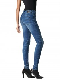 Bild 2 - G-Star Damen Jeans 3301 Contour High Waist Skinny Fit - Dunkelblau - Medium Aged