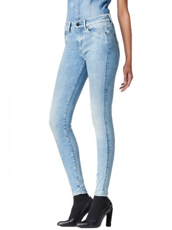G-Star Damen Jeans 3301 High Waist Ultra Skinny Blau - Medium Aged