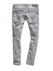 Timezone Herren Jeans CostelloTZ - Tight Fit - Grau - Light Grey Wash